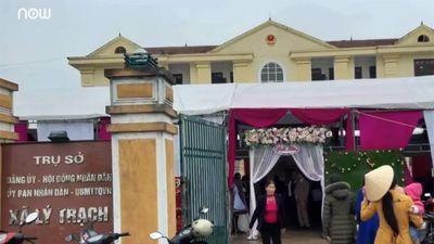 Đình chỉ chủ tịch xã cho tổ chức đám cưới ở trụ sở
