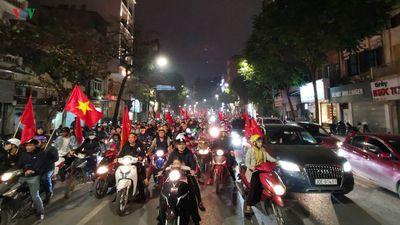 CĐV Hà nội 'đi bão' sau chiến thắng của ĐT Việt Nam trước ĐT Jordan