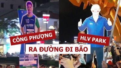 HLV Park hang-seo và Công Phượng ra đường 'đi bão' cùng người dân