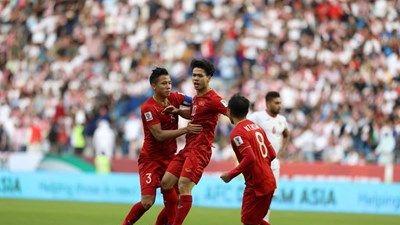 CLIP đội tuyển Việt Nam ghi bàn, lập kỳ tích trước Jordan