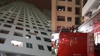 Chung cư HH3A Linh Đàm cháy ở tầng 15