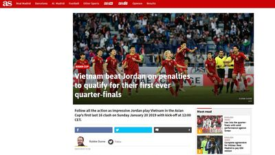 Reuters, Bein Sports và truyền thông thế giới khâm phục ĐT Việt Nam
