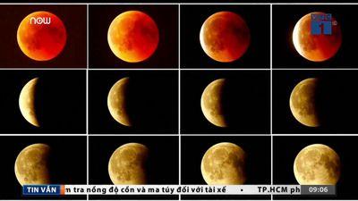 Hôm nay 21/1, siêu trăng, trăng máu, trăng sói xuất hiện đồng thời