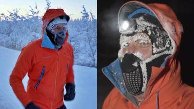 Liều lĩnh chạy 50km ngoài trời -60 độ C để quyên tiền cho bệnh nhi