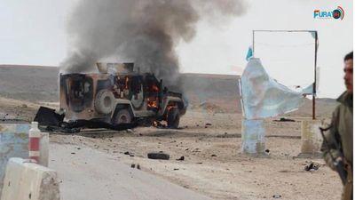 Đánh bom liều chết nhằm vào đoàn xe chở lính Mỹ tại Syria