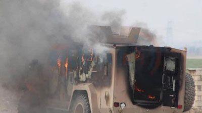 CLIP: Đánh bom liều chết nhằm vào đoàn xe chở người Kurd và lính Mỹ tại Syria