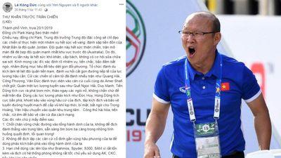Bức thư khẩn gửi thầy Park 'đậm chất dân Sử' gây sốt mạng xã hội vì quá thông minh độc đáo