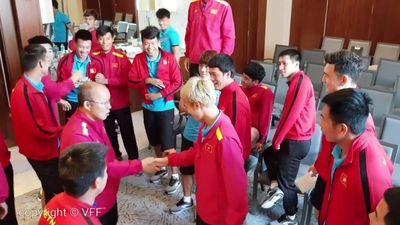 Thầy trò HLV Park Hang-seo chơi gameshow trước trận tứ kết gặp Nhật Bản