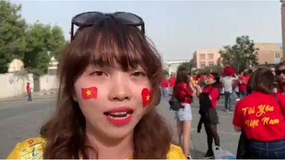 CĐV tại sân Al Maktoum tin Việt Nam sẽ thắng Nhật Bản