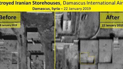 Ảnh vệ tinh hé lộ mức độ phá hủy của tên lửa Israel với lá chắn Syria