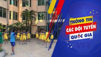 Clip: U22 Việt Nam tập nhẹ tại khách sạn sau khi sang Campuchia