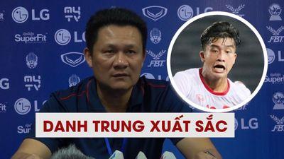 HLV Quốc Tuấn khen ngợi Danh Trung sau cú đúp bàn thắng