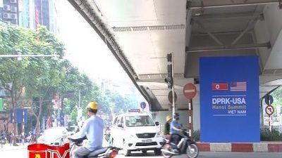 Hà Nội trang hoàng đường phố chuẩn bị cho hội nghị thượng đỉnh Mỹ - Triều Tiên