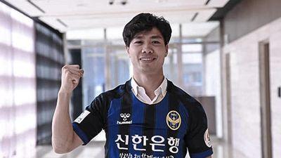 Công Phượng đi bóng và ghi bàn trong trận ra mắt Incheon United