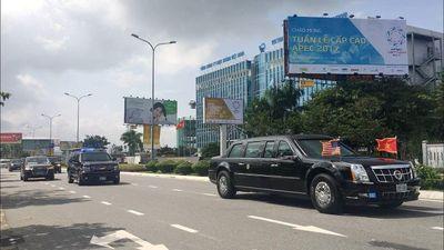 Đoàn xe hộ tống Tổng thống Donal Trump dự APEC tại Đà Nẵng