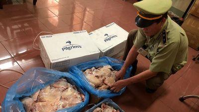 Bắt giữ 225 kg gà đông lạnh không có giấy chứng nhận kiểm dịch