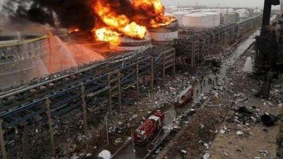 Rợn người hiện trường vụ nổ nhà máy hóa chất Trung Quốc làm 800 người thương vong