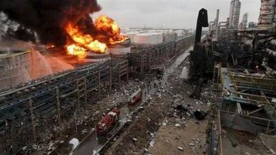 Hiện trường vụ nổ nhà máy hóa chất Trung Quốc làm 800 người thương vong