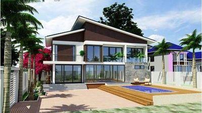 10 mẫu nhà 2 tầng mái lệch phổ biến nhất hiện nay