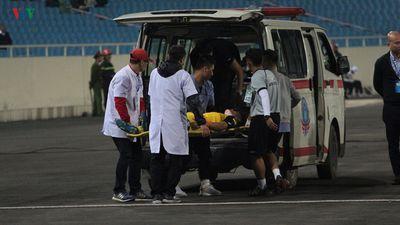 Chấn thương kinh hoàng của hậu vệ U23 Brunei ở trận gặp U23 Thái Lan