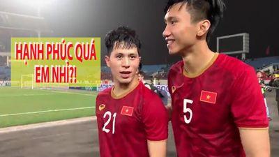 Đình Trọng, Văn Hậu làm gì sau trận thắng U.23 Thái Lan?