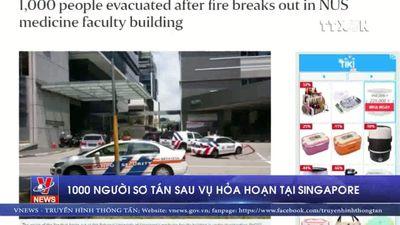 1.000 người sơ tán sau vụ hỏa hoạn tại Singapore