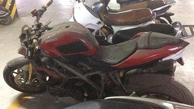 Xe môtô Ducati Streetfighter hơn nửa tỷ bỏ xó ở Hà Nội