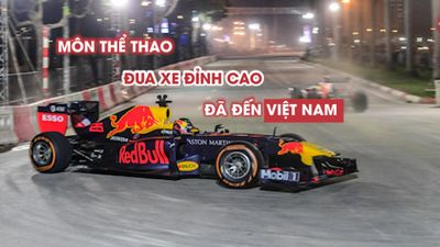 Mãn nhãn với màn đua xe công thức 1 ngay tại Hà Nội