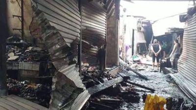 Cháy chợ Hiếu ở Nghệ An, thiệt hại nhiều tỉ đồng