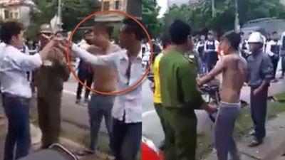 Clip 2 anh em xăm trổ chặn đánh nhân viên giao gas ở Hà Nội nhận trái đắng