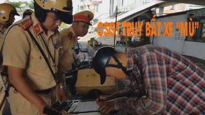 CSGT truy bắt xe 'mù' tung hoành khu Chợ Lớn
