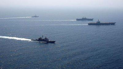 Cụm tàu chiến đấu Hải quân Mỹ tiến vào biển Ả rập