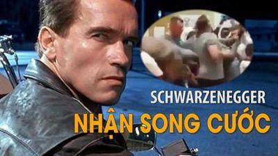 'Kẻ Hủy Diệt' Schwarzenegger nhận song cước vào lưng