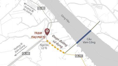 Vì sao tài xế phản ứng trạm BOT gần cầu Vàm Cống?