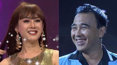 MC Quyền Linh ngượng ngùng khi được Lâm Khánh Chi liên tục khen đẹp trai
