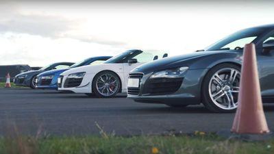 Bốn đời Audi R8 mạnh nhất nẹt pô, đua tốc độ