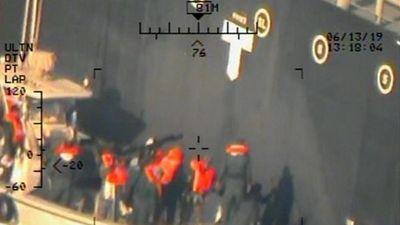 Mỹ công bố thêm hình ảnh, tiếp tục báo buộc Iran tấn công 2 tàu dầu