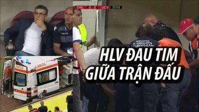 HLV lên cơn đau tim giữa trận đấu khiến cầu thủ hoang mang cực độ