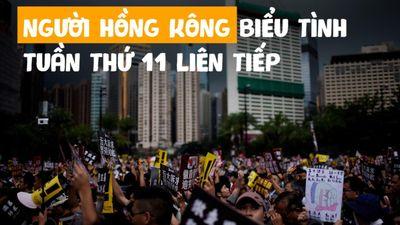 Biểu tình lớn diễn ra yên ả ở Hồng Kông