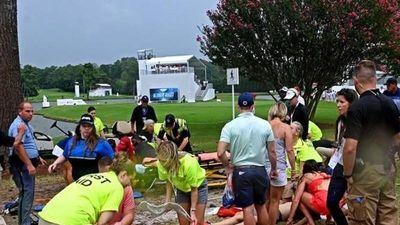 Sét đánh trên sân golf tại giải PGA Tour, 6 người nhập viện