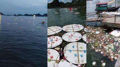 Thả 30.000 hoa đăng trôi trên biển Cát Bà: Báo hiếu hay hủy hoại môi trường?