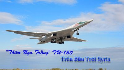 Máy bay ném bom chiến lược Tu-160 của Nga phô diễn sức mạnh tại Syria