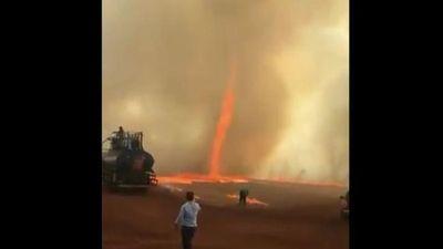 Lốc xoáy lửa siêu hiếm ở Brazil