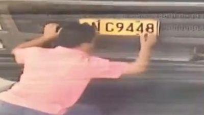 Tài xế tự vẽ biển số để qua mắt camera giao thông