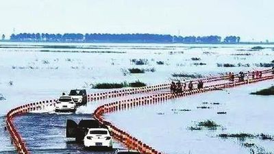 Con đường trên mặt nước, xuyên qua hồ lớn nhất Trung Quốc