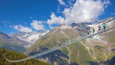 Cầu treo bắc ngang hai đỉnh núi cao 3.000 m ở Thụy sĩ