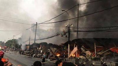Clip: Vụ nghi phóng hỏa đốt chợ ở Thanh Hóa gây thiệt hại hàng tỉ đồng