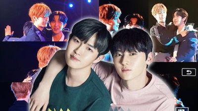 Fan Wanna One được phen 'rần rần': Team 'Saranghae' Minhyun và Jaehwan hội ngộ thân thiết tại BOF