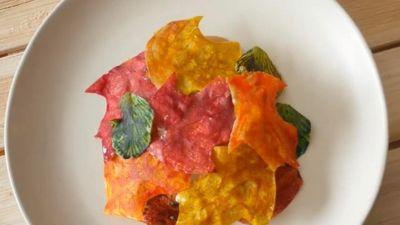 Biến tấu khoai lang thành bánh lá cây mùa thu tinh tế