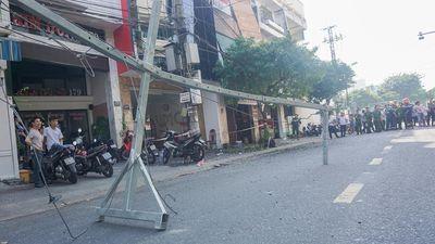 Sau tiếng nổ lớn, thanh sắt rơi từ tầng 5 làm 2 vợ chồng bị thương